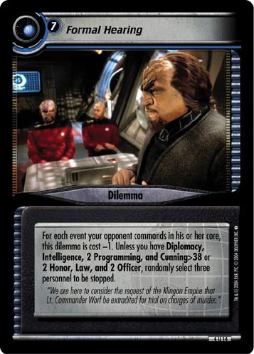 Riker Exchange Officer 4R155 Star Trek CCG 2E Necessary Evil William T