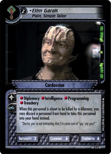 Star Trek CCG 2E Premiere Elim Garak Agent Of the Obsidian Order 1R236