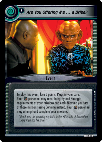 Star Trek CCG What You Leave Behind RARE 14R12 Prisoner of the Exile