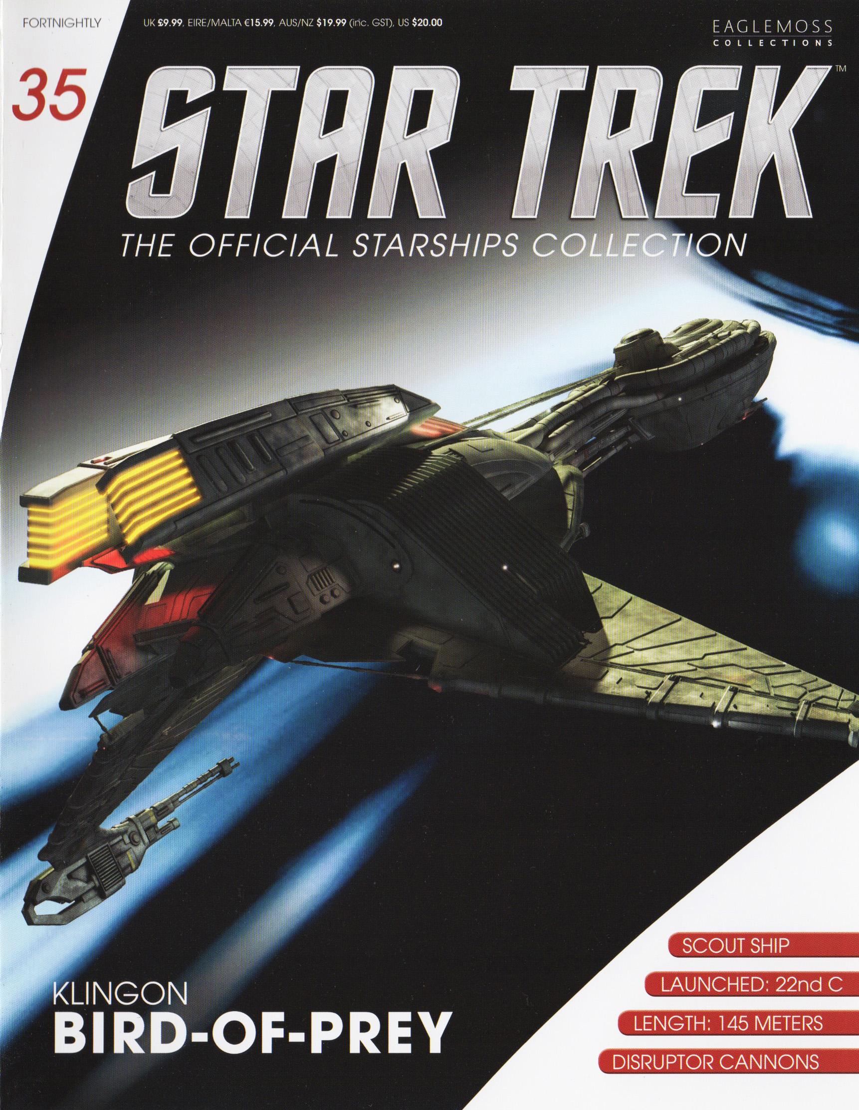 Star Trek Eaglemoss Issue 35 Klingon BoP model with Magazine