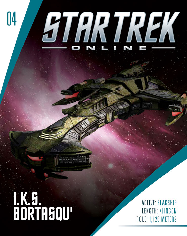Eaglemoss Star Trek Online Starships Issue 4 Magazine