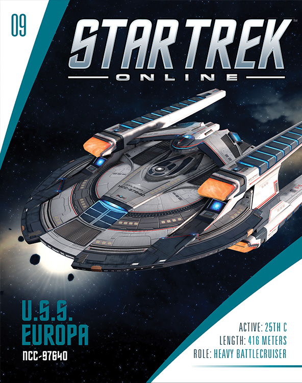 Eaglemoss Star Trek Online Starships Issue 9 Magazine