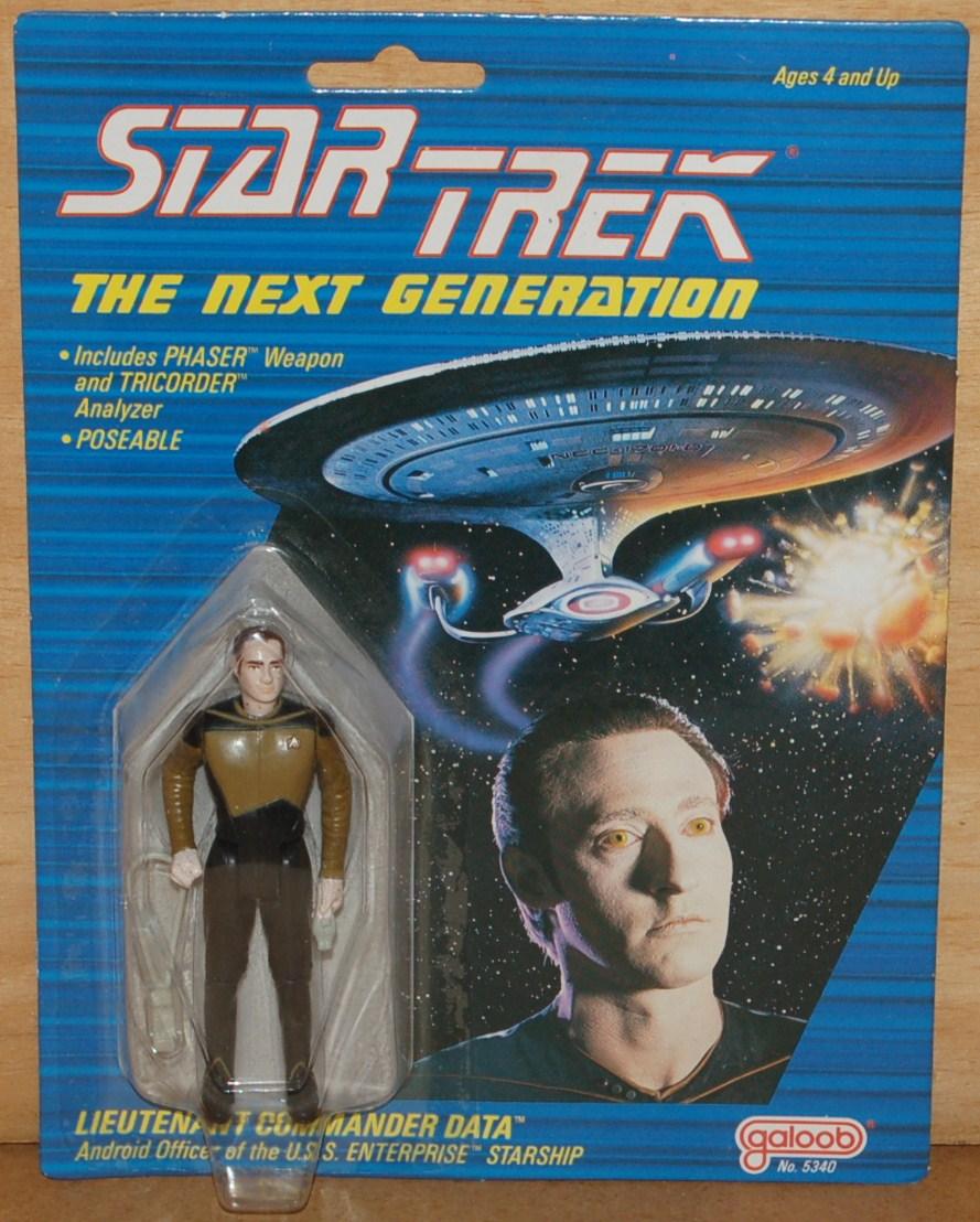 Galoob 1988 Star Trek The Next Generation Lieutenant Geordi La Forge Figure Card